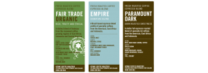 Coffee product labels