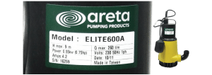 Areta industrial sticker label