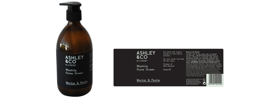 Ashley & Co product labels