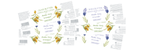 Honey herbs product stickers