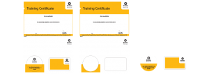 Training certificates cards
