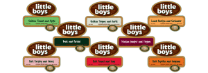 Little Boys product label stickers