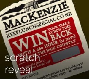Scratch reveal stickers