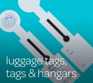 luggage tags, tags & hangars